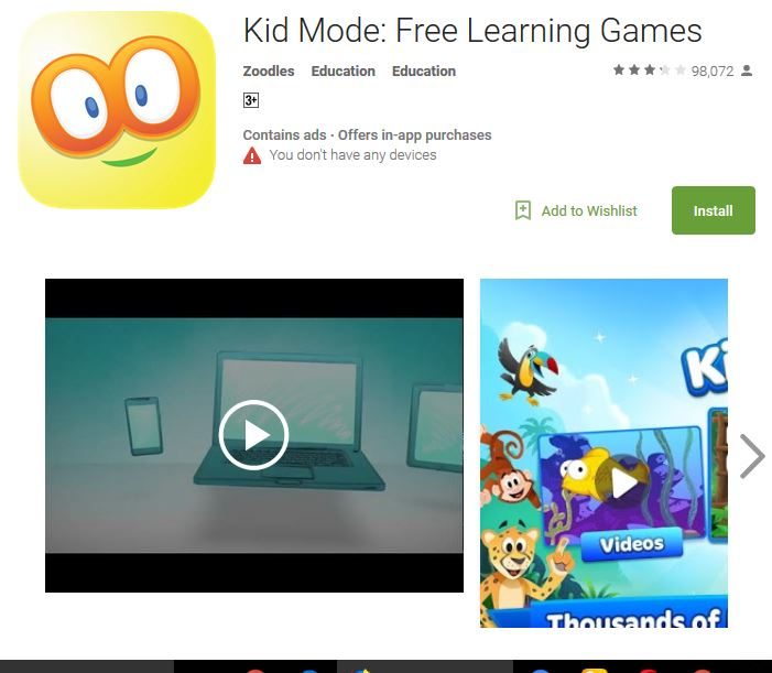 Top 6 Android Games for 5 year Olds