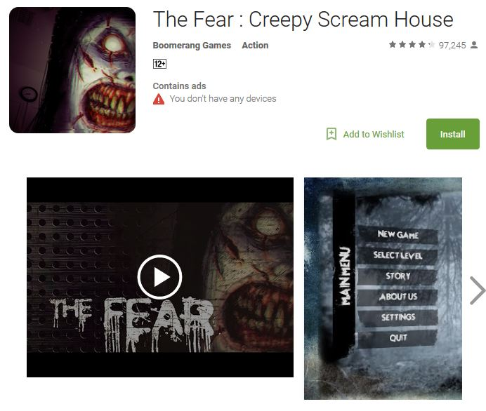 Top 10 Best Horror Games for Android Phones